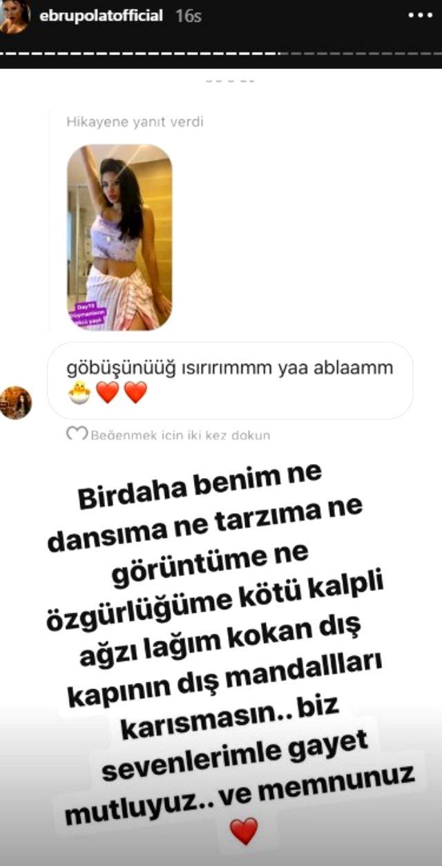 Şarkıcı Ebru Polat, evinin banyosunda kalça dansı yaptı