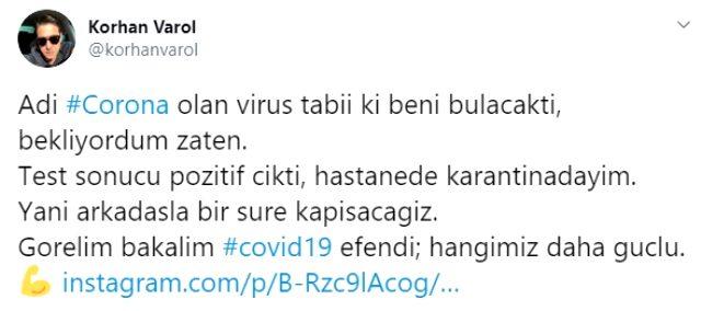 Koronavirüse yakalanan Korhan Varol, taburcu oldu