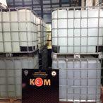 Tekirdağ'da kaçak üretilen 12 bin 400 litre etil alkol ele geçirildi