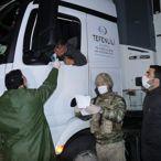 Erciş'te araç giriş çıkışları denetleniyor