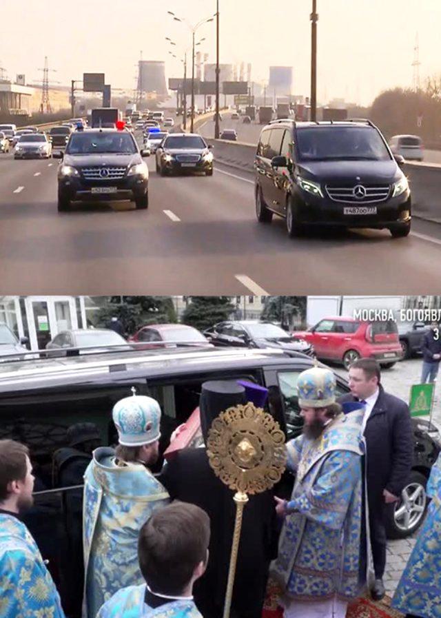 Patrik Kirill, koronavirüse karşı 'mucizevi şefkat ikonuyla' Moskova'yı dolaşıp dua etti