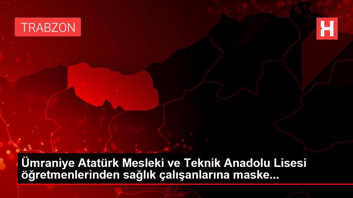 Ümraniye Atatürk Mesleki ve Teknik Anadolu Lisesi öğretmenlerinden sağlık çalışanlarına maske...