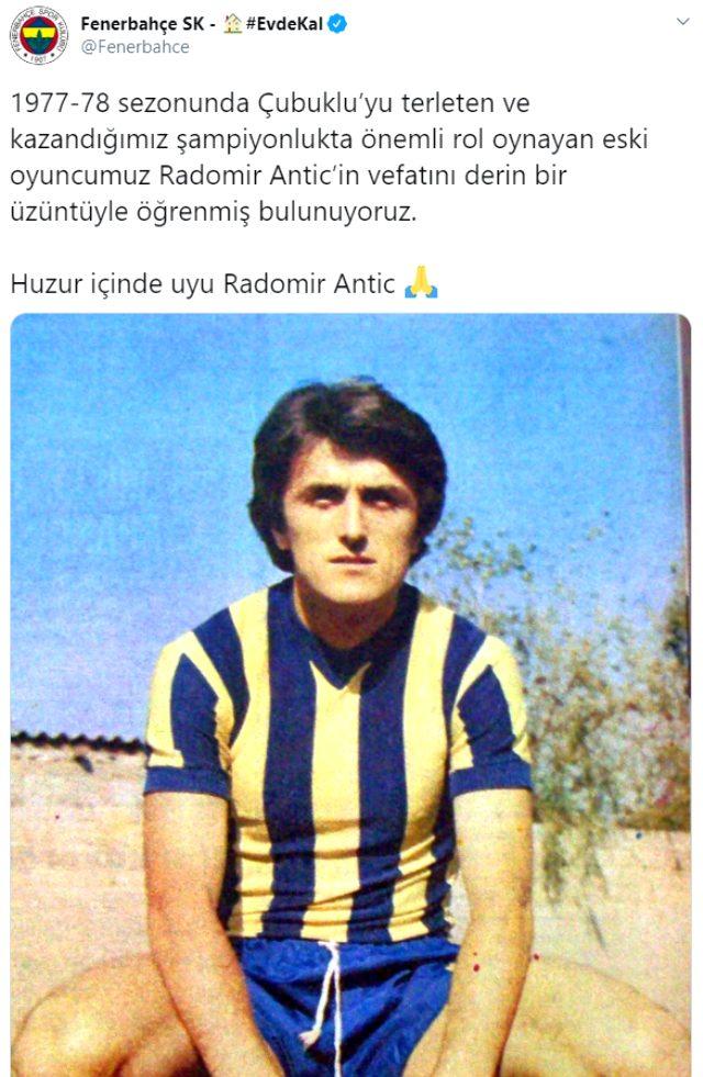 Fenerbahçe'nin eski futbolcusu Radomir Antic vefat etti