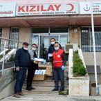 Hayırsever iş insanından Havza Belediyesi ve Türk Kızılayı'na maske desteği