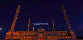Berat Kandili: İstanbul'da Beraat Kandili'nde mahya aracılığıyla 'Evde kal' mesajı