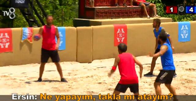 Survivor'da şiş kebap yemek için mücadele eden Ünlüler takımı yarışmacıları arasında gerilim yaşandı