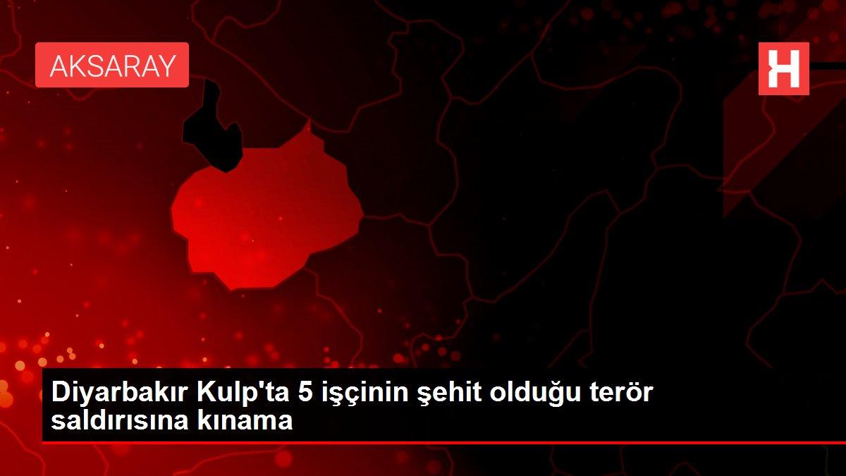 Diyarbakır Kulp'ta 5 işçinin şehit olduğu terör saldırısına kınama