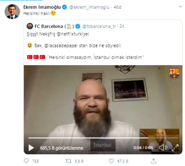 La Casa de Papel'in Helsinki'si 'İstanbul' dedi, sosyal medyada gündem oldu