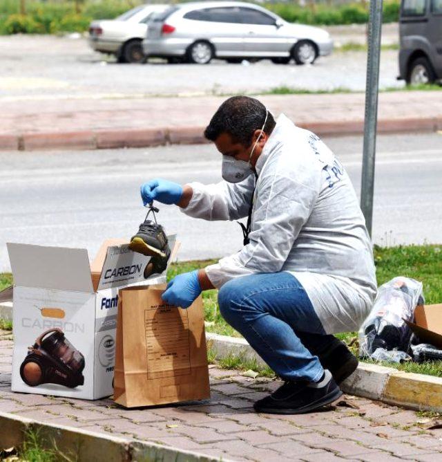 Polisi görüp panikleyen hırsız, çaldığı süpürge ile düşen ayakkabısını bırakarak kaçtı
