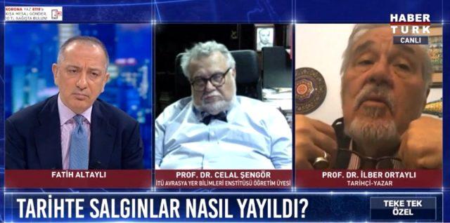 Prof. Dr. Celal Şengör, canlı yayında İlber Ortaylı konuşurken uyuyakaldı