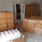 Başkentte kaçak dezenfaktan ürünleri ele geçirildi