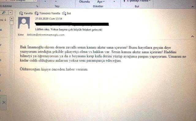 CHP, İmamoğlu'nu tehdit eden partiliyle ilgili açıklama yaptı: Adı geçen şahıs tanınmıyor