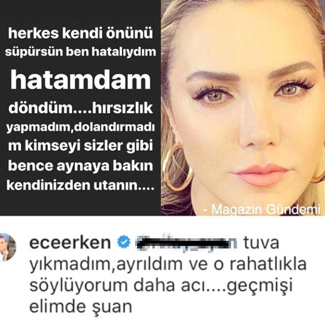 Ece Erken, evli sevgilisi Şafak Mahmutyazıcıoğlu ile ayrıldı