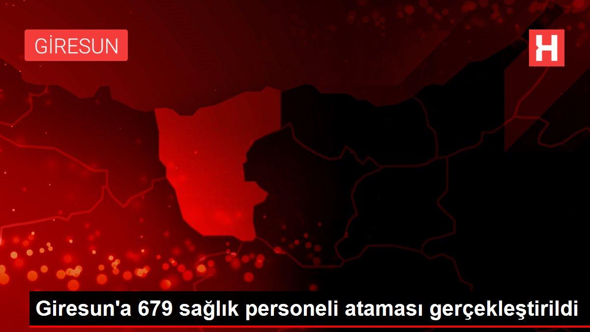 Giresun'a 679 sağlık personeli ataması gerçekleştirildi