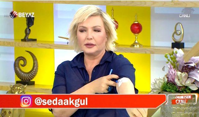 Sunucu Seda Akgül, dün akşam rahatsızlanarak hastaneye kaldırıldı