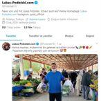 Antalyasporlu futbolcu Podolski'den maskeli pazar alışverişi paylaşımı