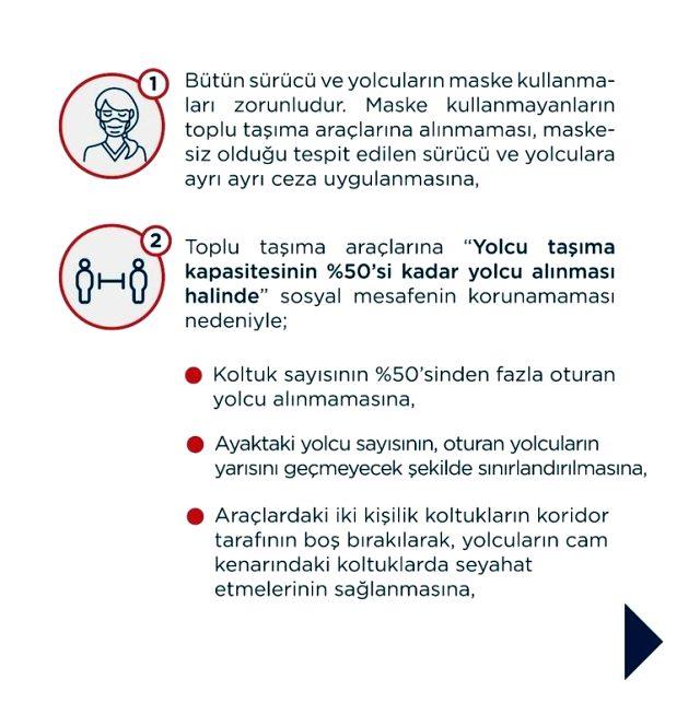 İstanbul Valiliği'nden koronavirüs tedbirleri kapsamında toplu taşımada uygulanacak yeni tedbirleri açıkladı