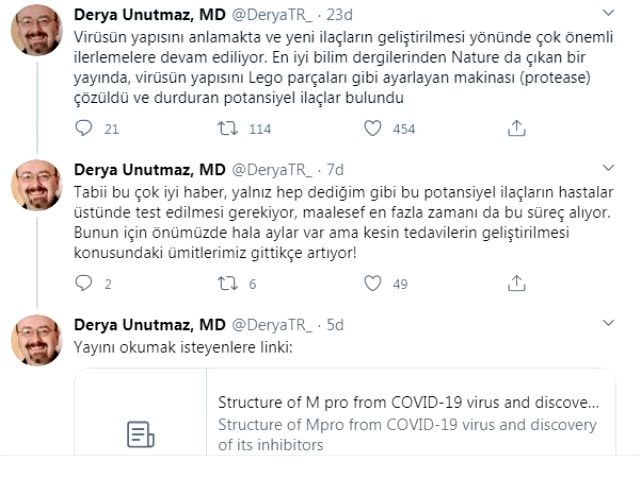Dünyaca ünlü Türk doktor Derya Unutmaz: Koronavirüsü durduran ilaçlar bulundu
