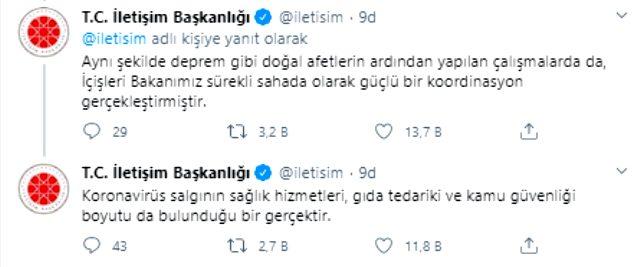 Son Dakika: İletişim Başkanlığı: Süleyman Soylu'num istifası kabul edilmemiştir