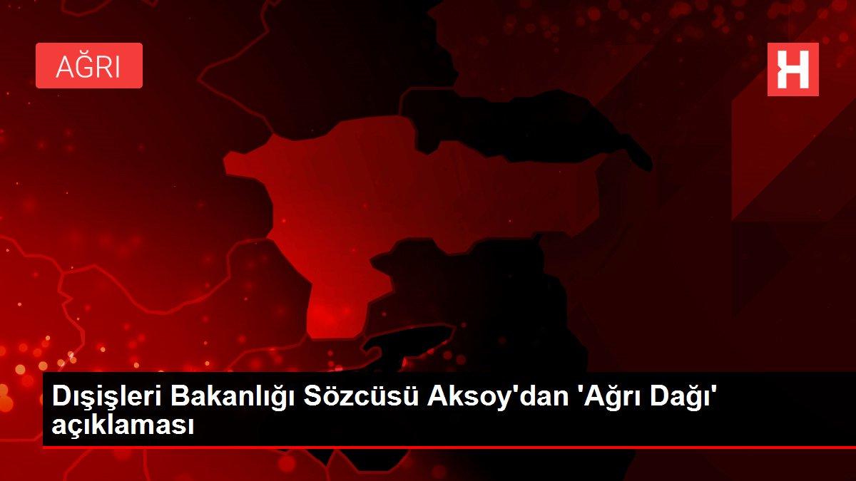 Dışişleri Bakanlığı Sözcüsü Aksoy'dan 'Ağrı Dağı' açıklaması