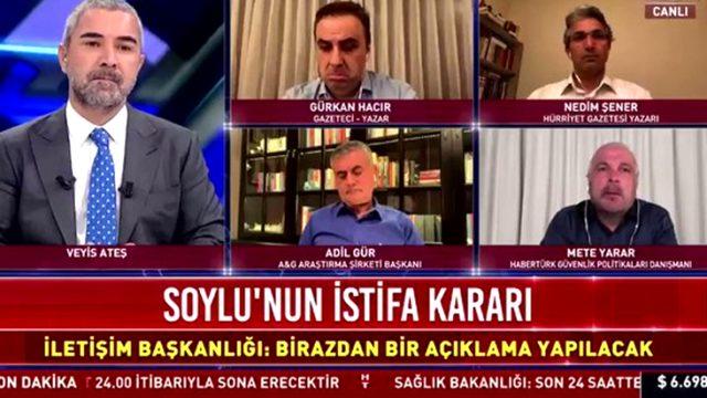 Soylu'nun istifası konuşulurken ekrandan duyulan ses, televizyon tarihine geçti
