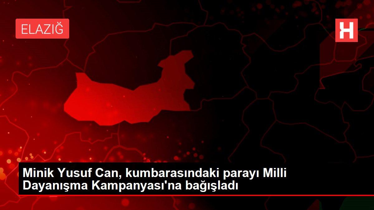 Minik Yusuf Can, kumbarasındaki parayı Milli Dayanışma Kampanyası'na bağışladı