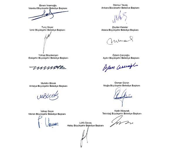 CHP'li 11 büyükşehir belediye başkanından koronavirüs salgınına karşı hükümete 6 maddelik çağrı yaptı