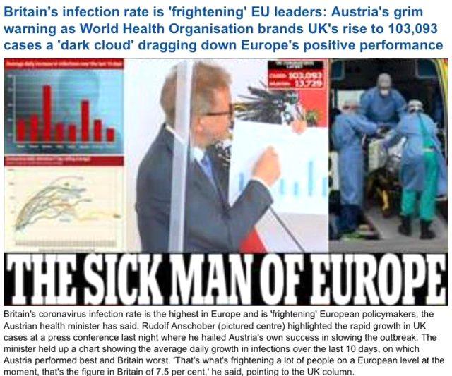 Osmanlı için kullandıkları tabiri bir asır sonra kendileri için manşet attılar: Avrupa'nın hasta adamı