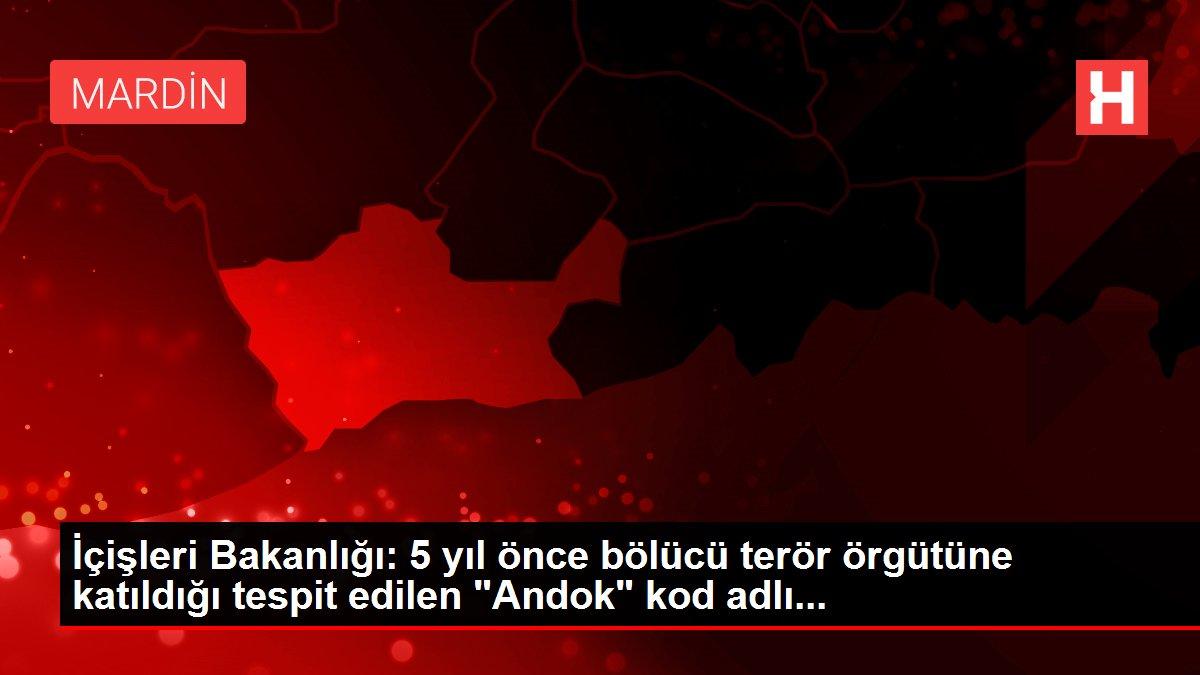 İçişleri Bakanlığı: 5 yıl önce bölücü terör örgütüne katıldığı tespit edilen 'Andok' kod adlı...