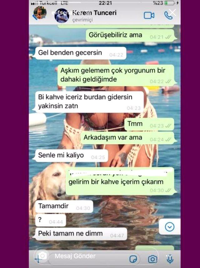 Aslı Enver ile aşk yaşamaya başlayan Kerem Tunçeri'nin 3 farklı kadına attığı mesajlar ifşa oldu