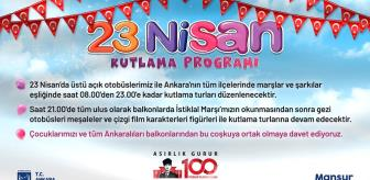Haymana: Başkent'te 23 Nisan kutlaması çocukların ayağına gidecek