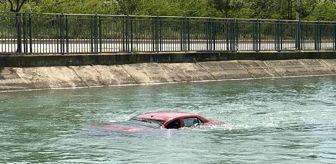 Gürselpaşa Mahallesi: Adana'da motosiklete çarpan otomobil sulama kanalına uçtu: 3 yaralı