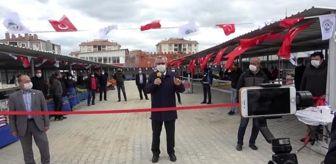 Edirne'de sosyal mesafeli semt pazarı açılışı