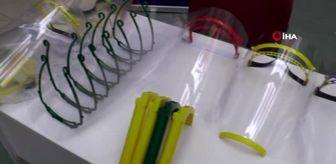 Polis Haftası: Öğretmenler 3D yazıcıyla siperli maske üretiyor