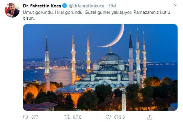 Sağlık Bakanı Fahrettin Koca'dan umut veren paylaşım: Güzel günler yaklaşıyor