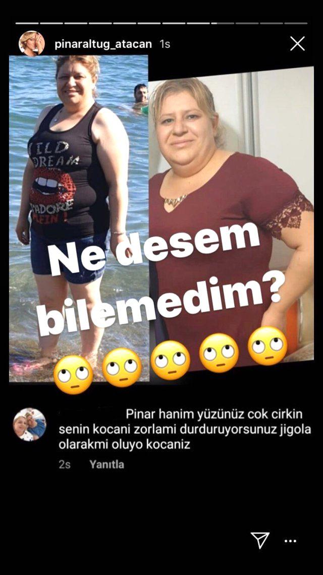 Pınar Altuğ, eşiyle ilgili seviyesiz yorum yapan takipçisinin fotoğraflarını paylaşarak yanıt verdi: Ne desem bilemedim!
