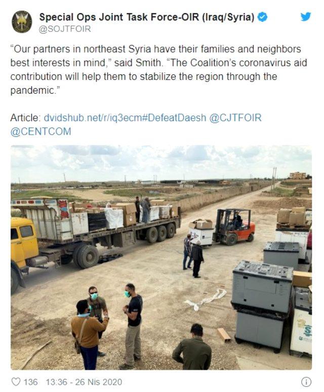 Türkiye'nin 2 uçak dolusu malzeme gönderdiği ABD, aynı gün terör örgütüne yardım etti