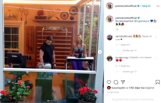 41 yaşındaki Yeşim Erçetin, sevgilisiyle öpüşme videosunu paylaştı