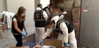 Kaçak 760 bin adet cerrahi maske ve 1 milyon 310 bin adet eldiven ele geçirildi