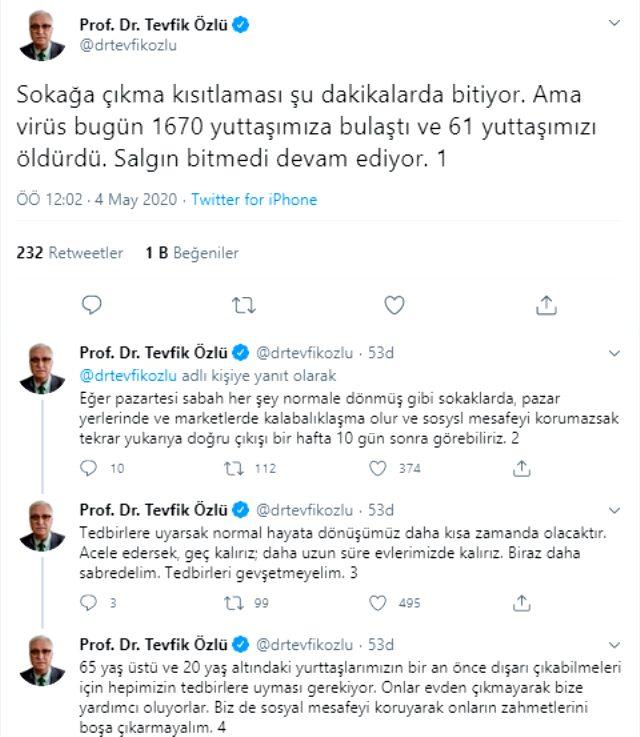 Bilim Kurulu Üyesi Prof. Dr. Tevfik Özlü'den vatandaşlara 'Pazartesi' uyarısı: Salgın bitmedi devam ediyor