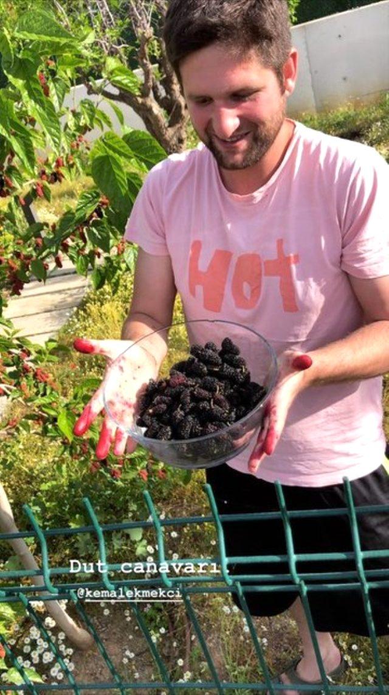 Ünlü oyuncu Gizem Karaca, koronavirüs günlerinde kendini organik tarıma verdi