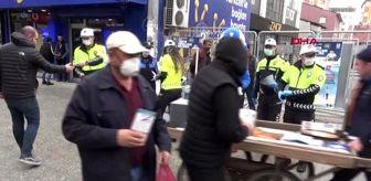 Trafik Şube Müdürlüğü: Trafik Haftasında broşür dağıtarak vatandaşlara 'evde kalın' dediler