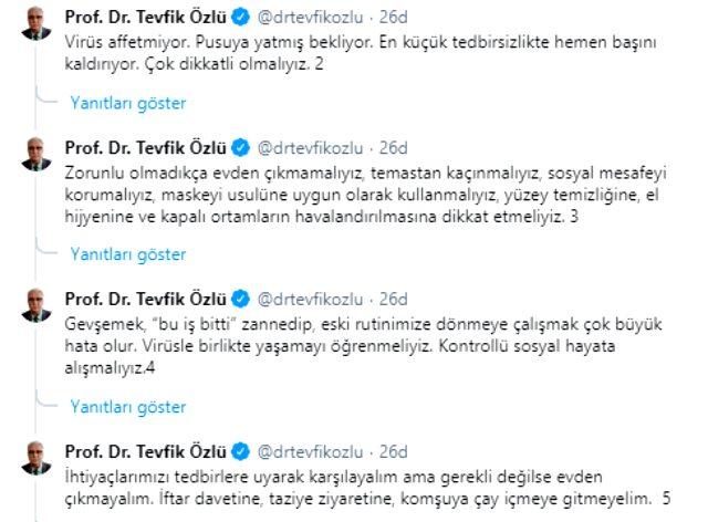 Bilim Kurulu Üyesi Prof. Dr. Tevfik Özlü, vaka sayısındaki iki günlük artışın nedenini anlattı