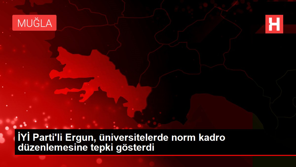 İYİ Parti'li Ergun, üniversitelerde norm kadro düzenlemesine tepki gösterdi