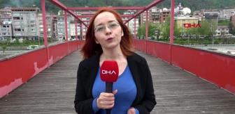 Trabzon'da altından su akmayan köprüye çözüm aranıyor