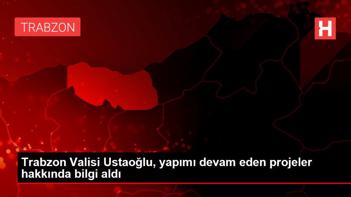 Trabzon Valisi Ustaoğlu, yapımı devam eden projeler hakkında bilgi aldı