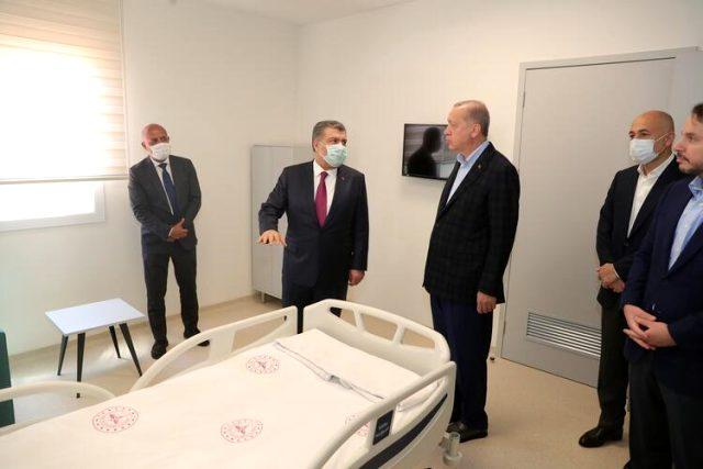 Cumhurbaşkanı Erdoğan, '45 günde bitireceğiz' dediği projeyi helikopter ile bizzat denetledi