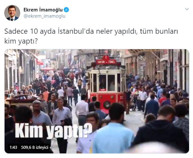 İBB Başkanı Ekrem İmamoğlu, İstanbul'da 10 ayda yaptıkları hizmetleri videoyla anlattı