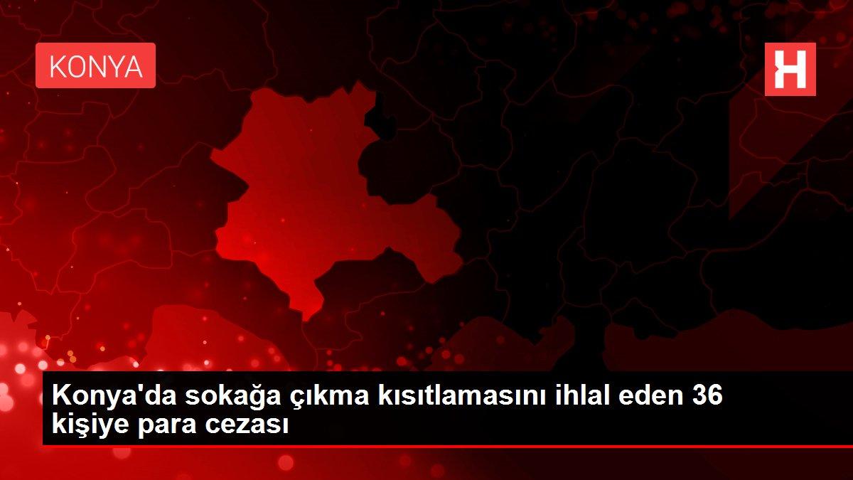 Konya'da sokağa çıkma kısıtlamasını ihlal eden 36 kişiye para cezası