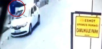 Polisin havaya savrulduğu kaza, saniye saniye kaydedildi